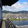 犬山城天守からの眺め。